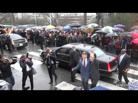 Prime Minister Justin Trudeau visits Vancouver City Hall