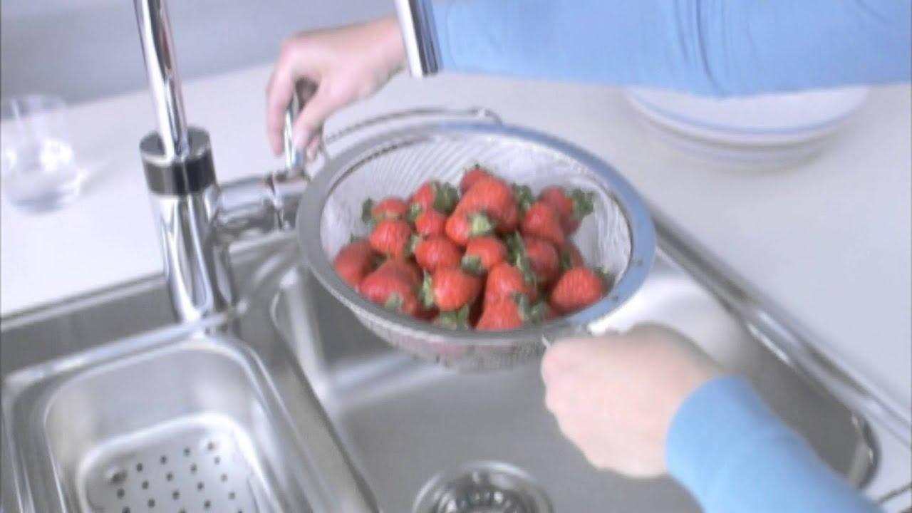 Сенсорный смеситель для кухни GROHE Minta Touch - YouTube
