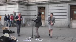 Redemption Song [cover] Reggae busker (street performance)