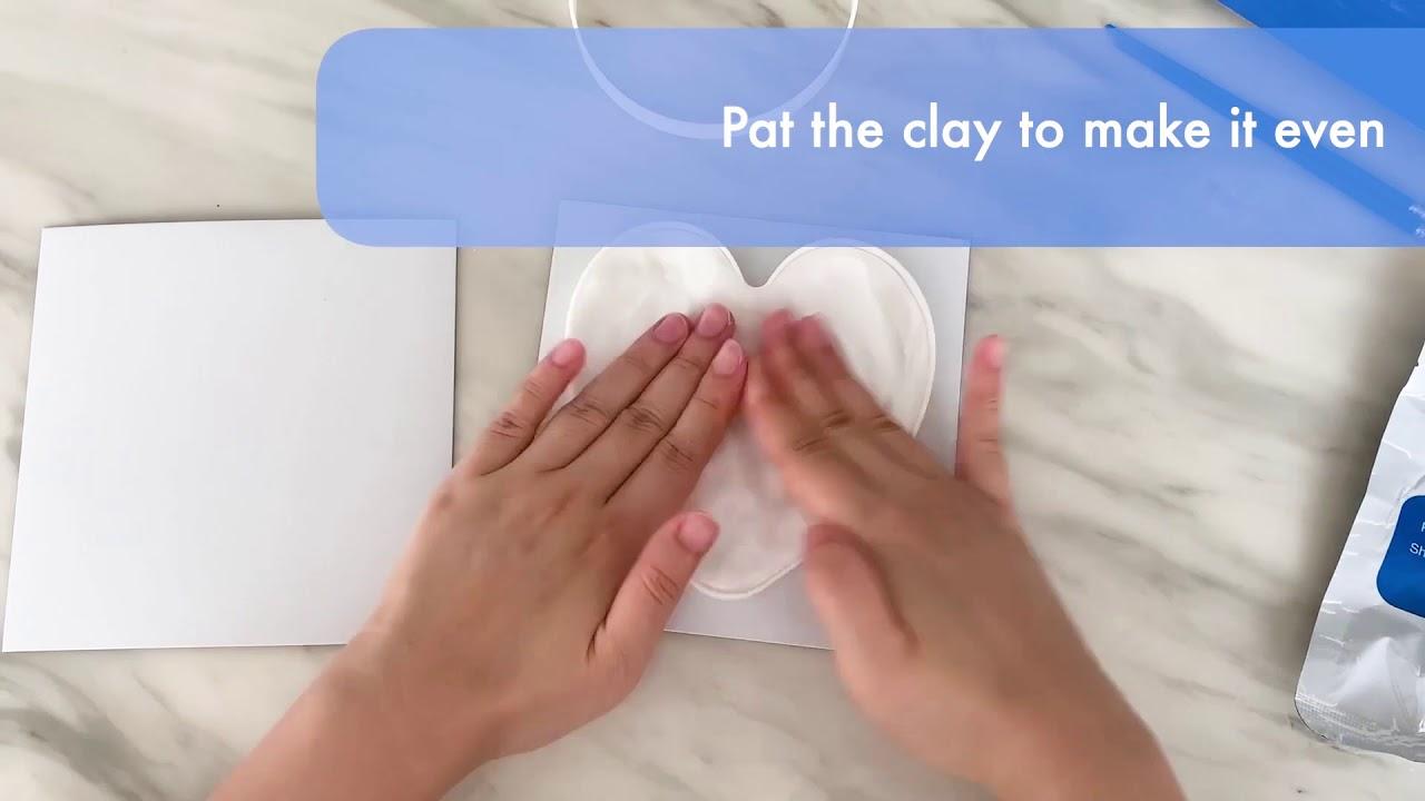 How to make your bubzi co baby handprint clay ornament keepsake