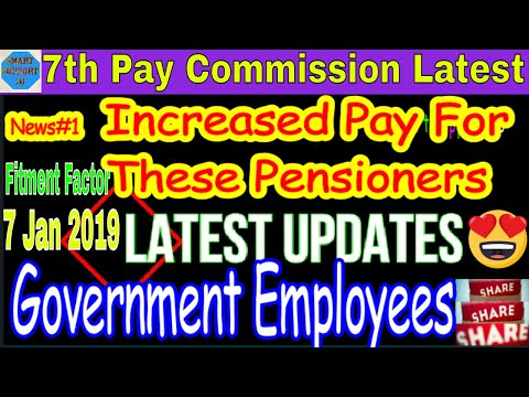 7th Pay commission latest|पेंशन बढ़ोतरी को लेकर आया सरकार  का अंतिम फैसला| Fitment factor|Minimum pay