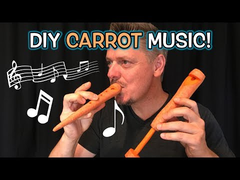 AMAZING DIY Carrot Whistle & Flute - How to!