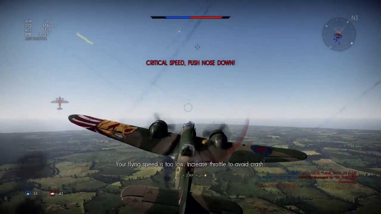 war thunder plane crashes