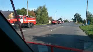 Колонна пожарных машин