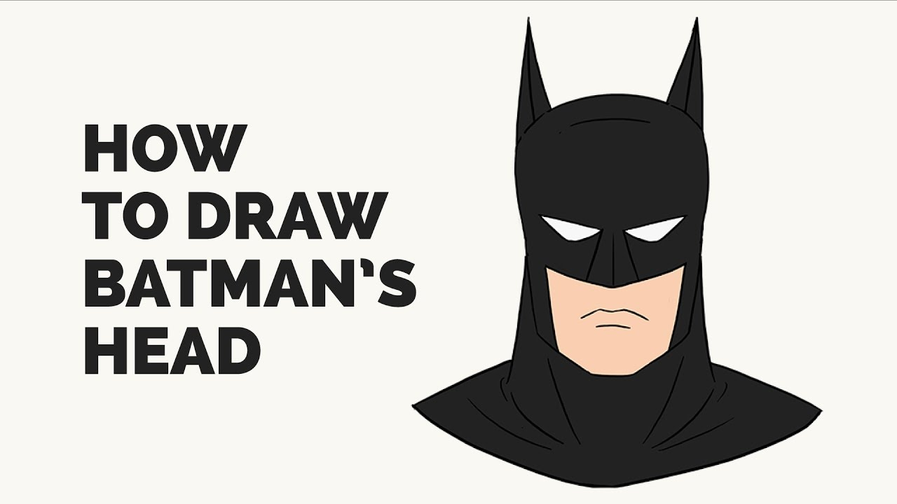 How to draw batman easy drawingnow - How To Draw Batman S Face Easy Step By Step Drawing Tutorial
