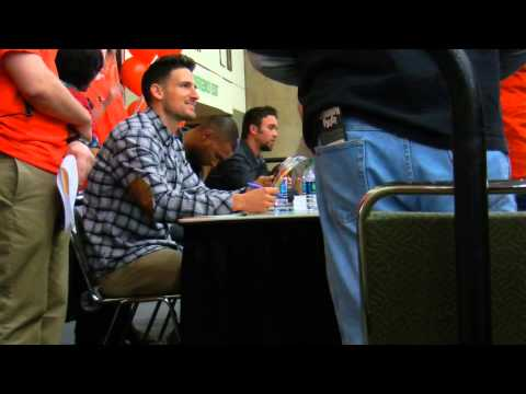 J.J. Hardy, Ryan Flaherty, and Henry Urrutia Signing Autographs at Orioles FanFest 2015