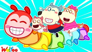 Wolfoo and Baby Jenny Learns Colors with Rainbow Worms - Kids Stories About Baby   Wolfoo Channel
