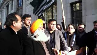 Sikhs Kashmiris Protest In London Outside The Indian Embassy 26th Jan Black Day