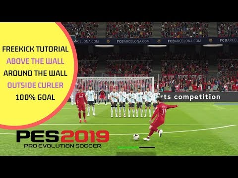 PES 2019 FREEKICK TUTORIAL | EASY AND SCORE WITH ANY PLAYER | : WEPES