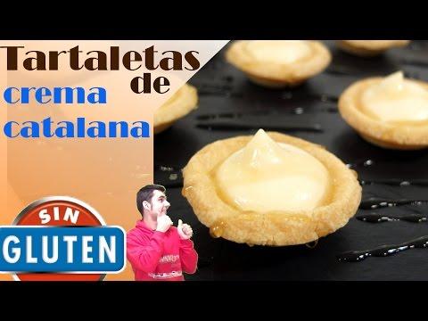 Tartaletas de crema catalana sin gluten