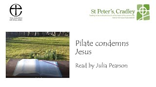 Outdoor Passion Station 4 Pilate Condemns Jesus
