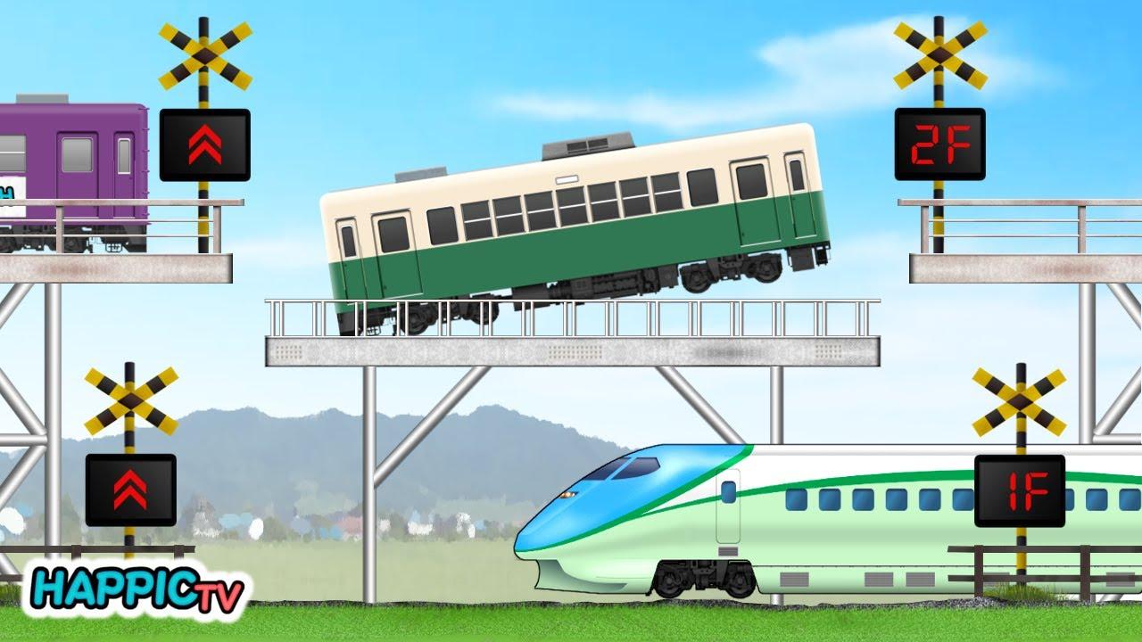 【踏切 Fumikiri】もしこんな踏切があったら #3 ~エレベーターと立体車庫~ / Train & Railroad Crossing - Elevator & Big Garage -