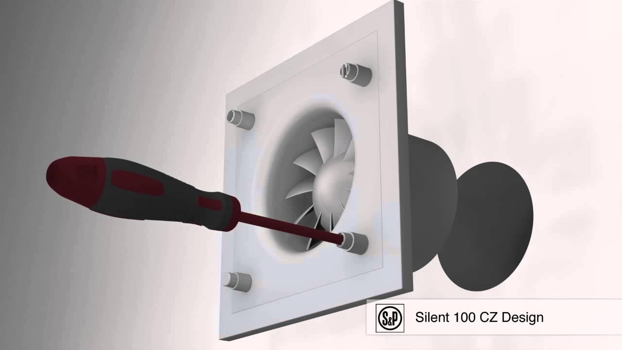 A/érateur axial ultra-silencieux SILENT 100 CHZ DESIGN avec clapet anti retour tempo r/églable 1 /à 30mn 403502