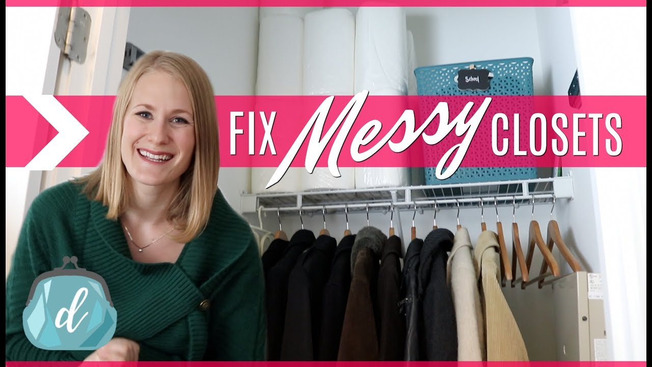 Organize A Messy Closet From Start To Finish! 💕 COAT CLOSET MAKEOVER