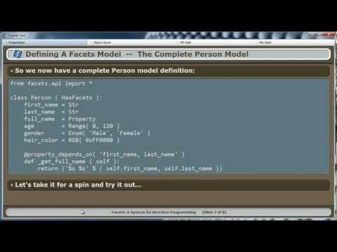 Defining a Facets Model