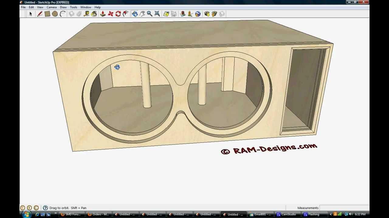 ram designs audioque hdc 12 box design w fun flush mount youtube