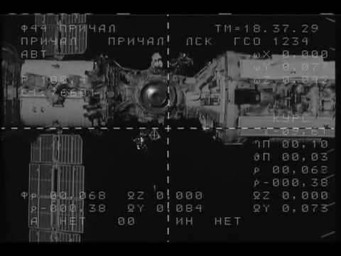 Russian Mini Research Module Docking to the ISS