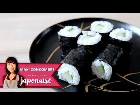 Recette Maki Concombre Sushi  | Les Recettes D'une Japonaise | Cuisine Japon