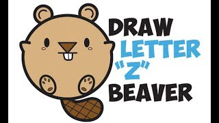 How to Draw a Beaver (Cute Cartoon Kawaii) Easy Step by Step Drawing Tutorial for Kids