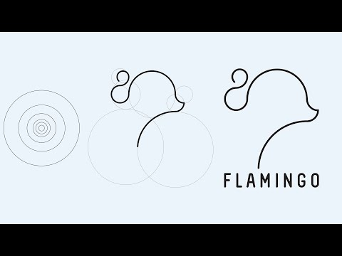100% Golden Ratio Logo in Illustrator 2020| Minimal Flamingo Logo