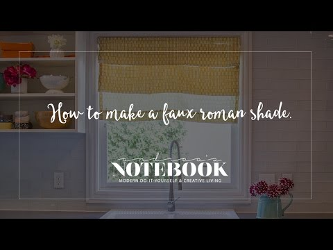 how to make roman shades youtube