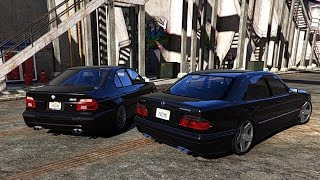 GTA V | BMW M5 E39 VS. MERCEDES E55 W210 ✪ GTA 5