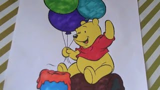 Disney Winnie The Pooh Coloring Book Pages Fun! We Love Coloring Our Favorite Bear!