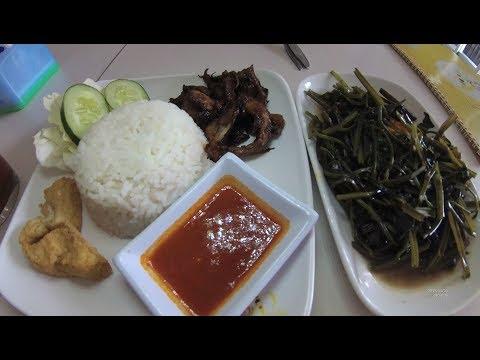 Indonesia Bali Street Food 2052 Part.1  Loving Hut Nasi Micia Plecing Kangkung  YDXJ0105