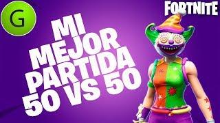 MATE AL ULTIMO xD   50 vs 50 *8 Kills*   Fortnite Battle Royale