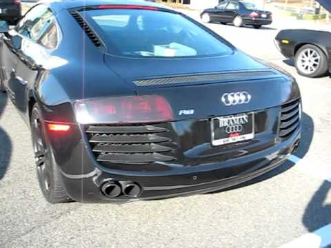 audi r8 v8 blacked out walk around start up revs. Black Bedroom Furniture Sets. Home Design Ideas
