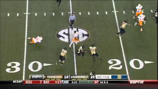 11/17/2012 Tennessee vs Vanderbilt Football Highlights