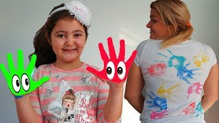 Masal, Öykü and Mom Learn Colored Paints Funny Kids Video