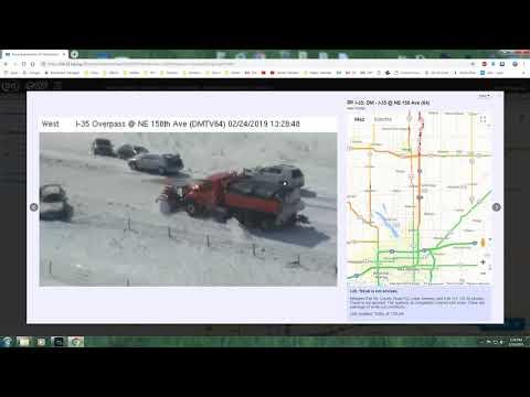 2019 February Blizzard I-35 Mini Pile Up Ames Huxley Iowa