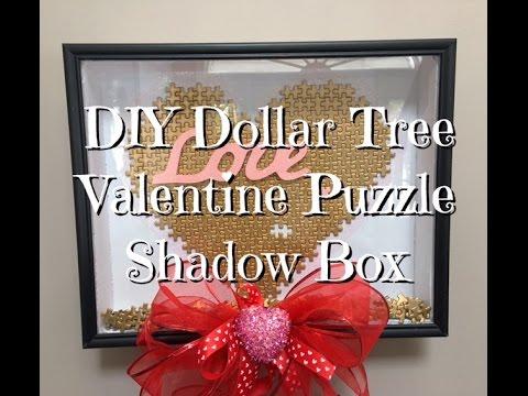 Diy Dollar Tree Valentine Puzzle Shadow Box How To
