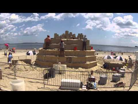 2013 Revere Beach Sand Sculpting Festival Center Sculpture Time-Lapse