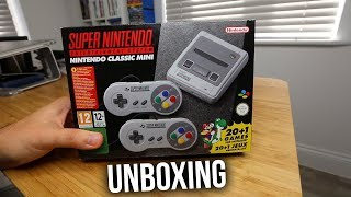 SNES MINI CONSOLE UNBOXING - Super Nintendo Entertainment System Console Mini