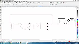 Corel Draw Tips & Tricks Text Cut Out and Engraved part 3