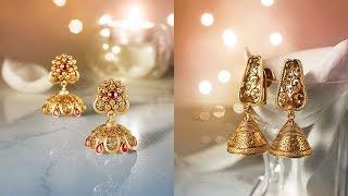 Latest Beautiful Gold Earrings by Tanishq Jewellery