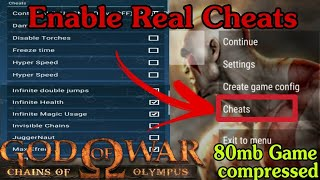 God of war - chains of Olympus Cheats || Unlimited Health ,Magic || How to enable cheats on ppsspp