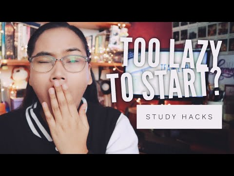 Too Lazy to Start? - Study Hacks