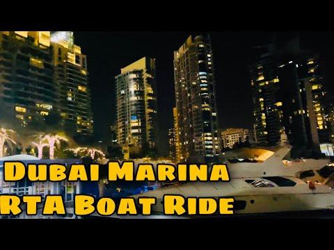 Trying out RTA boat ride at Dubai Marina