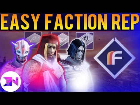 """""""EASY FACTION REPUTATION"""" - How To Level Up Faction Reputation Fast In Destiny The Taken King"""