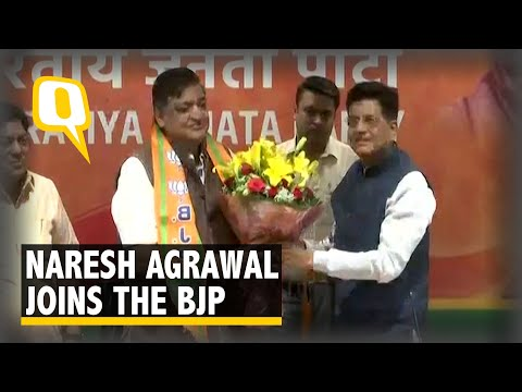 "Naresh Agrawal Joins the BJP, Says ""Unhappy With SP's Failed Alliances"""