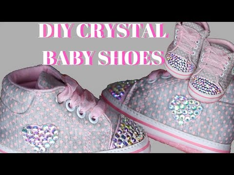 DIY Swarovski Crystal Baby Shoes
