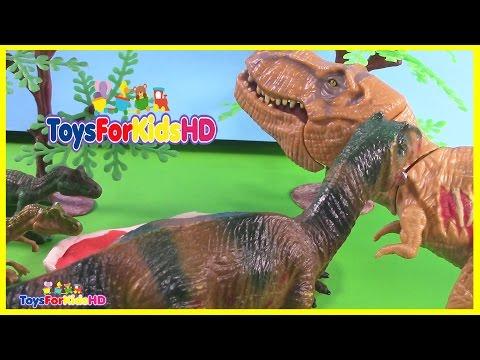 Videos de Dinosaurios para niños - Los Mejores Dinosaurios de Juguete ToysForKidsHD