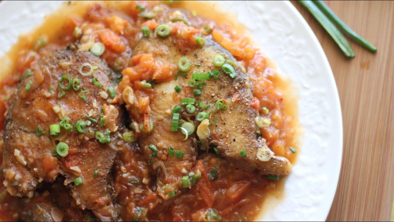 Ca thu sot ca king mackerel steak with tomato sauce for King fish recipe