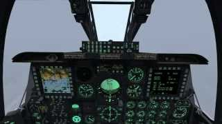 DCS: A-10C Zero visibility approach and landing