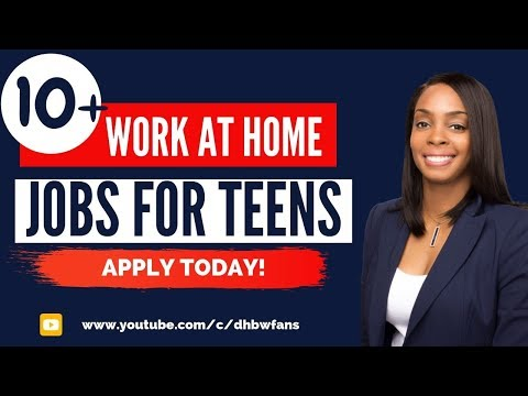 10+ Work at Home Jobs for Teens To Make Money Online - Apply Today!