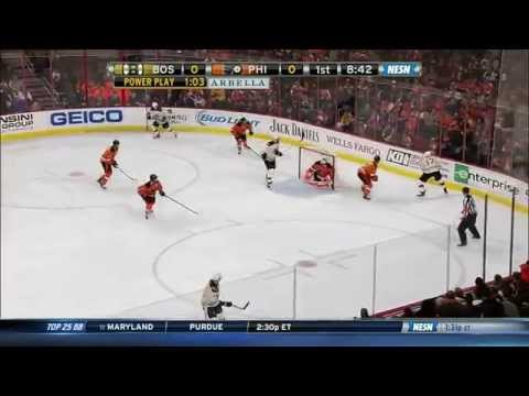 David Pastrnak's 1st NHL goal 1/10/15 60fps