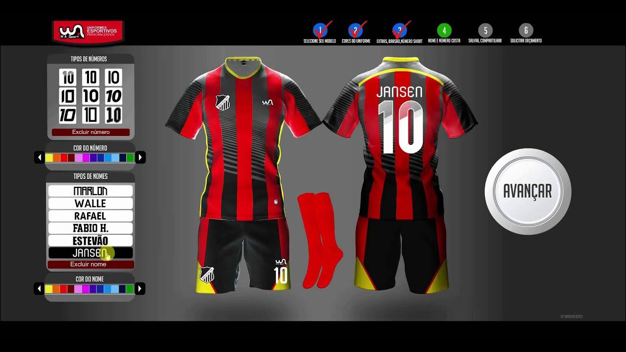 e9dd730a93f9d Simulador de uniformes esportivos wasport youtube jpg 1280x720 Simulador  uniformes esportivos